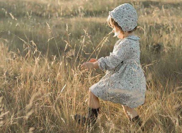 vestido corto mangas largas de falda plisada pioppa otoño invierno 2018