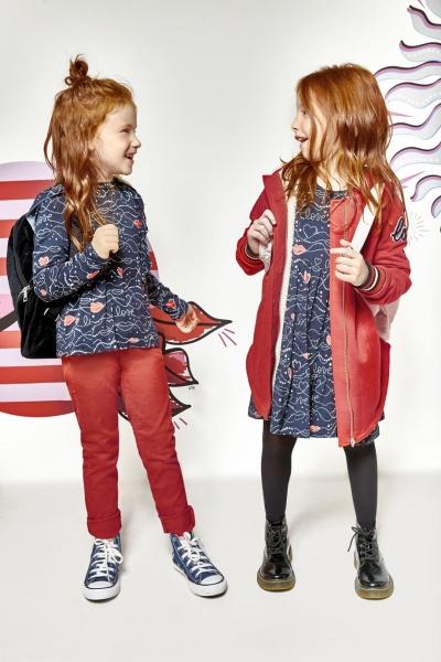 vestidos informales para niñas y blusas estampadas kosiuko kids otoño invierno 2018