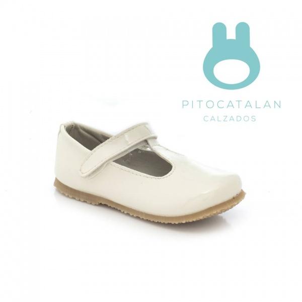 zapato charol banco niña Pitocatalan otoño invierno 2018