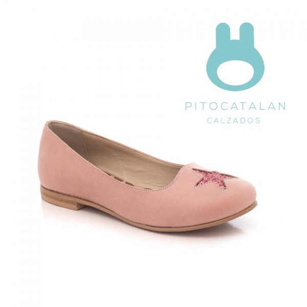 zapato niña rosado con estrella brillo Pitocatalan otoño invierno 2018