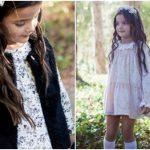 Vestidos cortos mangas largas para niñas Broer Enfants otoño invierno 2018