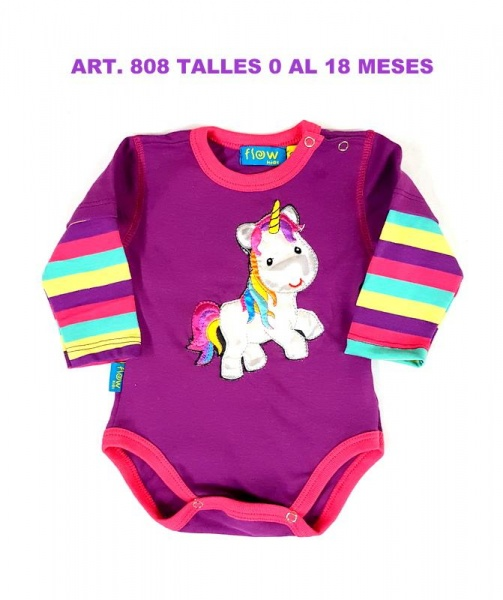 boby mangas largas unicornio flow kids invierno 2018