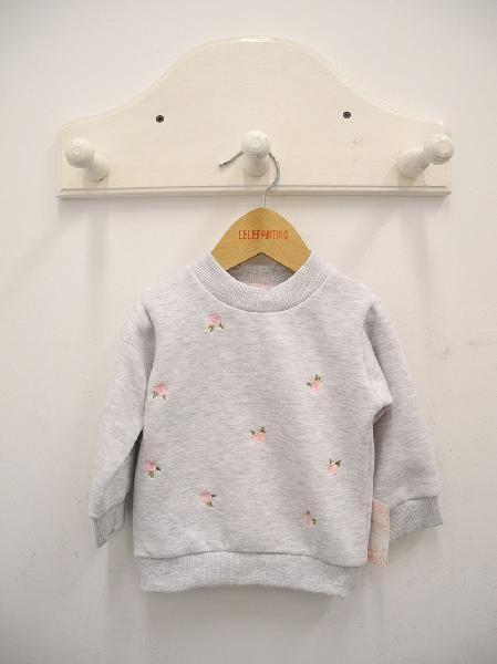 buzo algodon friza bordado beba lelefantino otoño inivierno 2018