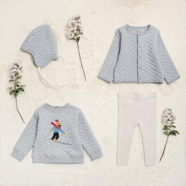 buzo y campera matelase de algodon bebe Little Akiabara invierno 2018
