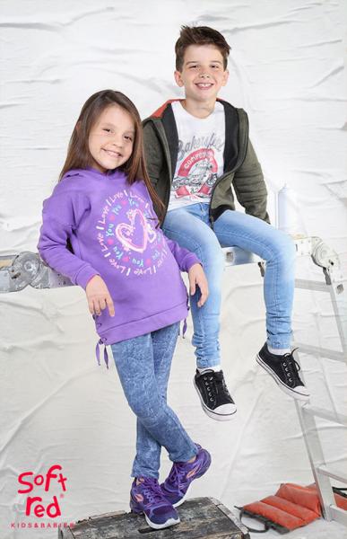buzos algodon con frisa para niñas Soft red otoño invierno 2018