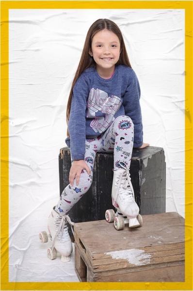 calzas estampadas nena Soft red otoño invierno 2018