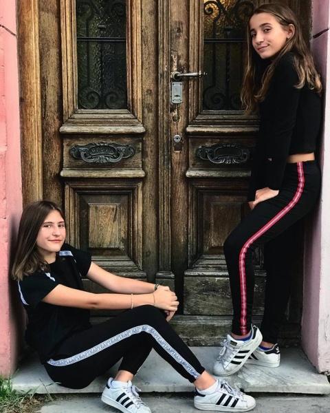 calzas negras con franjas laterales para nenas so cippo otoño invierno 2018