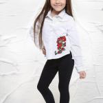 calzas y camisas para niñas Soft red otoño invierno 2018