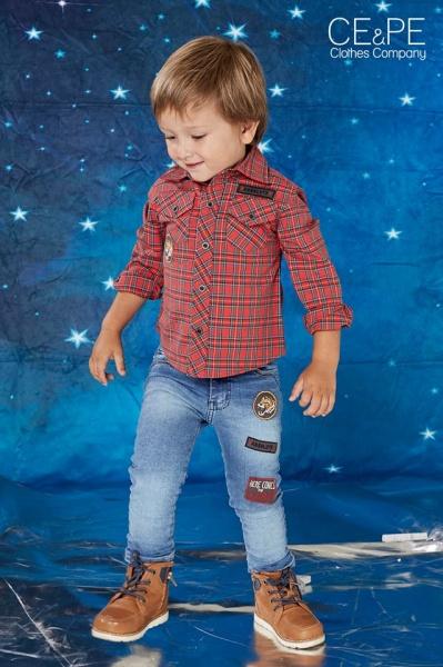 camisas y jeans para niños ce pe otoño invierno 2018