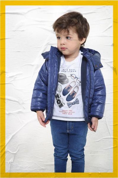 campera inflada forrada en polar para niños Soft red otoño invierno 2018