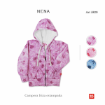 camperas de algodon frizado para niña Emmo otoño invierno 2018