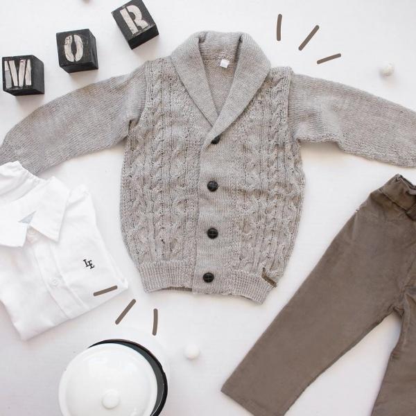 cardigan lana bebe lelefantino otoño invierno 2018