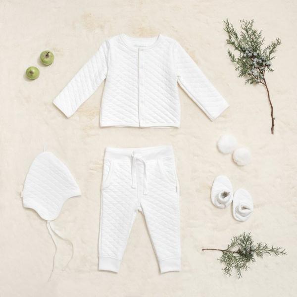 cnjunto matelase beba blanco Little Akiabara invierno 2018