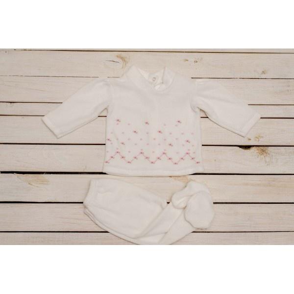 conjunto de ranita y buzo plush beba cocomiel otoño invierno 2018
