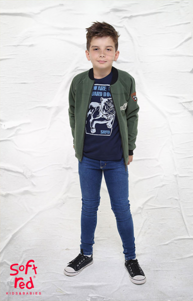 jeans chupin para niños Soft red otoño invierno 2018