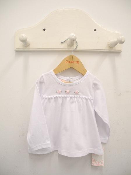 remera mangas largas beba blanca lelefantino otoño inivierno 2018