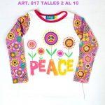 remeras coloridas para niñas remera niña Flow Kids otoño invierno 2018