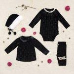 ropa negra para beba Little Akiabara invierno 2018