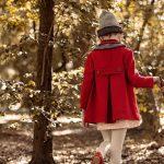 tapado de paño rojo para niña Paula Cahen d Anvers NIños invierno 2018