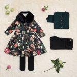 vestido de seda estampadas niñas Little Akiabara invierno 2018