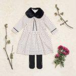 vestido mangas largas a lunares niña Little Akiabara invierno 2018