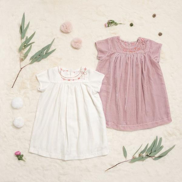 vestidos de plush beba Little Akiabara invierno 2018