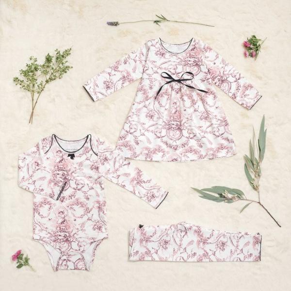 vestidos para beba Little Akiabara invierno 2018