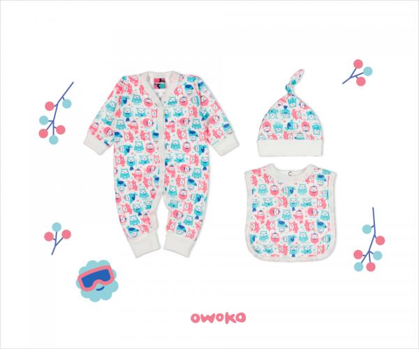 ajuar de algodon bebe owoko invierno 2018
