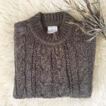 buzo de lana con trensado niño Pompas invierno 2018