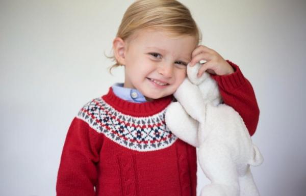 buzo de lana para niños Pompas invierno 2018