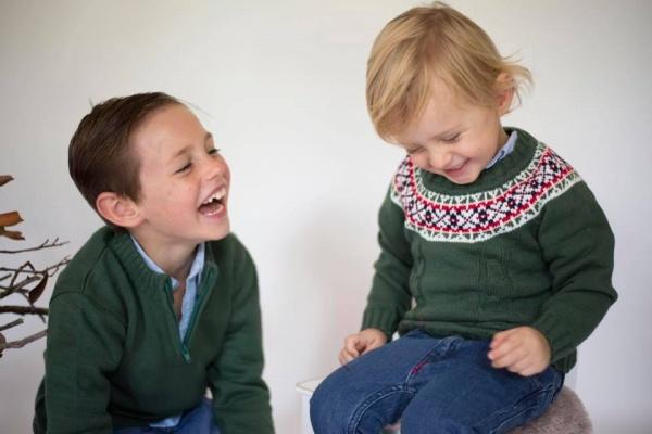 buzos de lana para niños Pompas invierno 2018