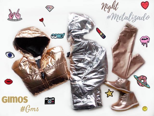 calzas y camperas metalizadas para niñas Gimos invierno 2018