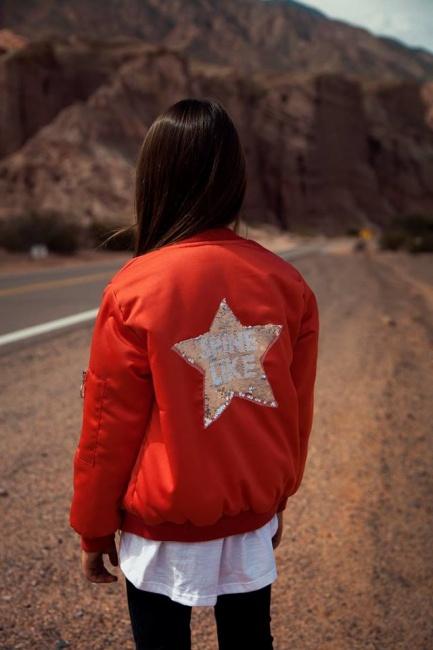campera bomber nena abrigada estrella bordada Gimos invierno 2018