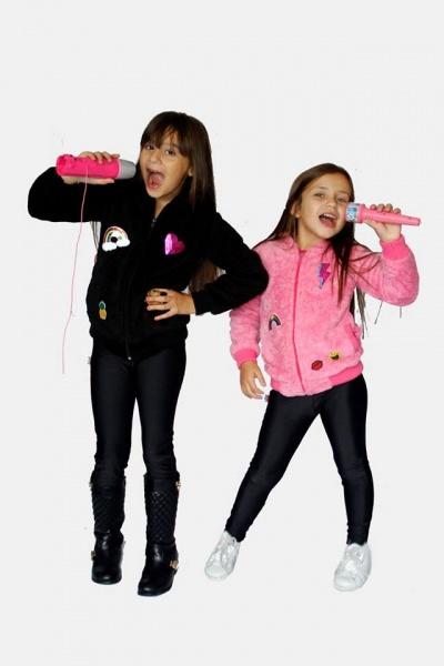 campera bomber polar con apliques niñas dilo tu ropa divertida invierno 2018