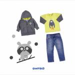 campera con capucha remera y jeans owoko invierno 2018