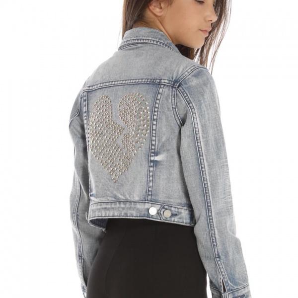 campera de jeans con espalda con tachas niñas ona Saez Kids otoño invierno 2018