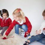Pompas tejidos para niños invierno 2018