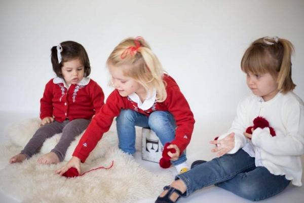 camperitas para niñas bordadas Pompas invierno 2018
