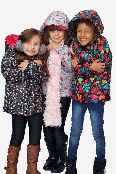 camperones impermeables estampados para niñas dilo tu ropa divertida invierno 2018