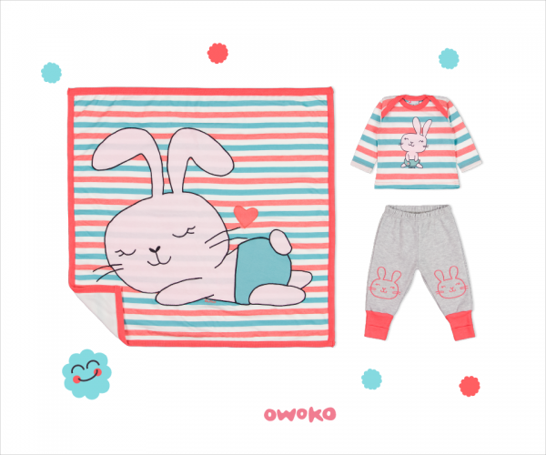 conjunto manga remera mangas largas y pantalon de algodon bebe owoko invierno 2018
