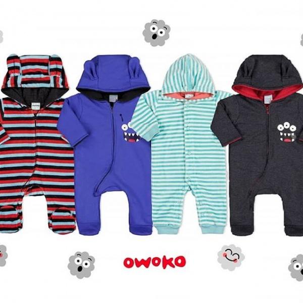 enteritos ositos abrigados con capucha bebes Owoko