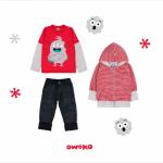 jeans remera mangas largas y campera algodon a rayas para niño owoko invierno 2018