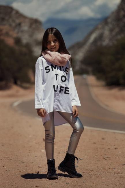 look casual con calza metalizada niña Gimos invierno 2018
