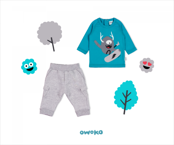 pantalon jogging y remera mangas largas bebe owoko invierno 2018