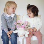saco de lana liviano niñas Pompas invierno 2018