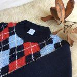 sweater de lana con rombos Pompas invierno 2018