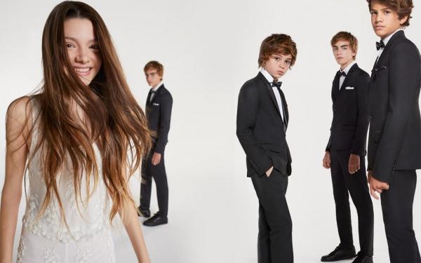 vestido blanco bordado para niña adolescente ona Saez Kids otoño invierno 2018