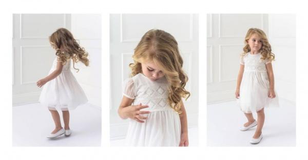 vestido blanco para nena Magdalena Esposito invierno 2018