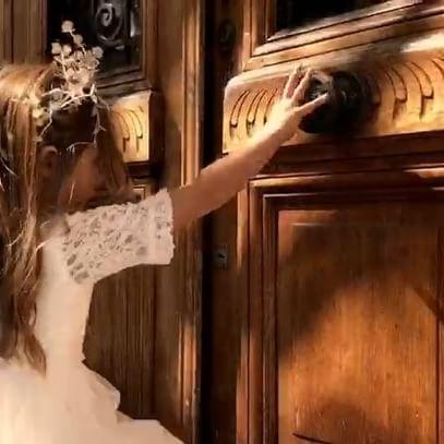 vestido con mangas de encaje para nenas Gro otoño invierno 2018