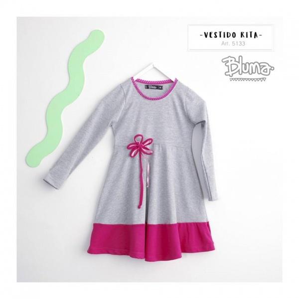 vestidos de jersey niña mangas largas Bluma otoño invierno 2018